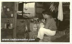 PY5GK (SK) em Expedição para Ilha dos Currais (ou Corais), litoral do Paraná no ano de 1959.