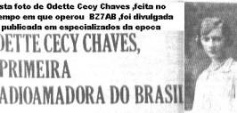 A primeira mulher a operar uma estação de radioamador no Brasil.