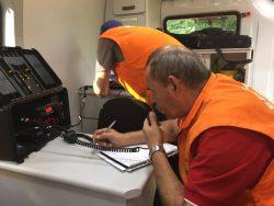 Bombeiros e radioamadores participam de simulado de emergência